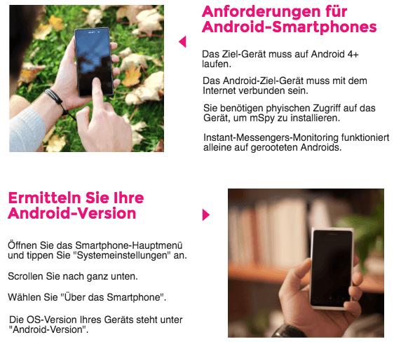 Anleitung zum Android Überwachen