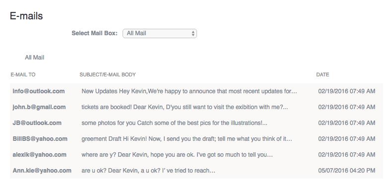 E-Mails mitlesen