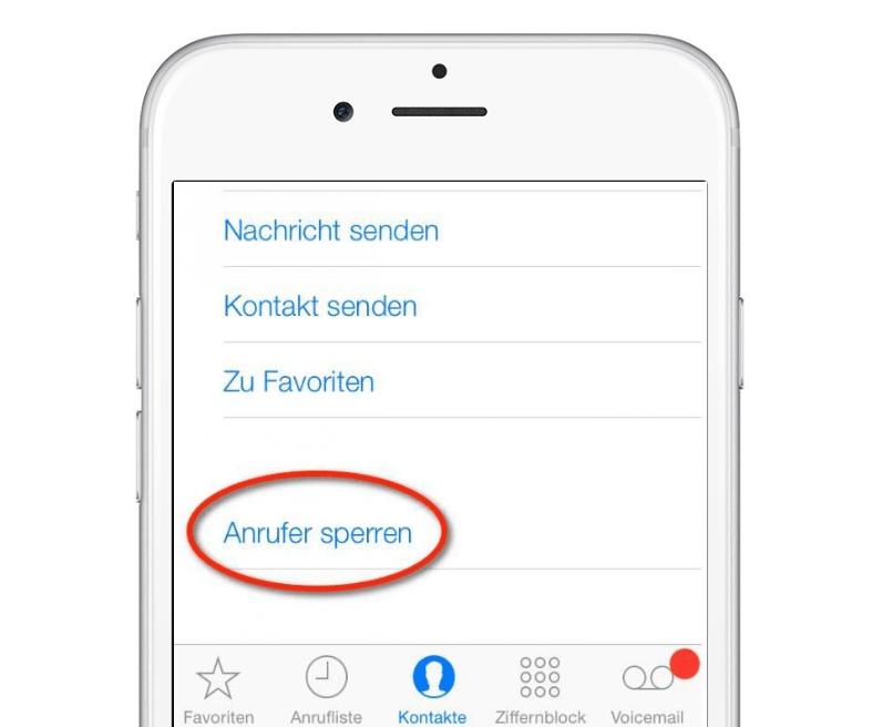 Anrufe blockieren iPhone