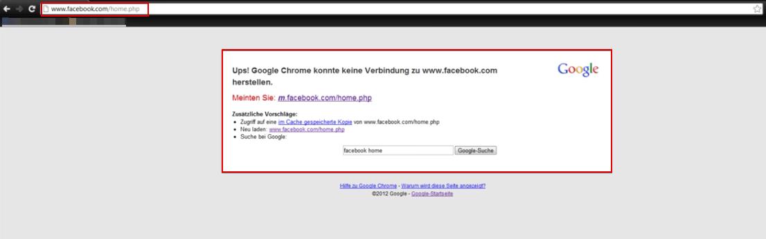 Webseite ist gesperrt